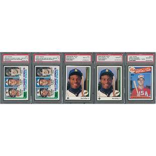 1980s Star Rookies Lot of (5): Ripken, Griffey, McGwire