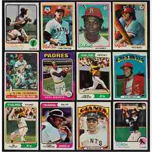 1970s-1980s Topps Baseball HOFers 'Shoebox' Lot of