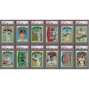 1972 Topps Baseball High-Grade Complete Set (787)