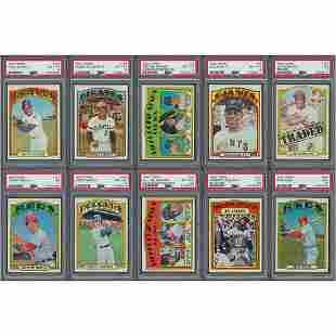 1972 Topps Baseball High-Grade Partial Set (724/787)