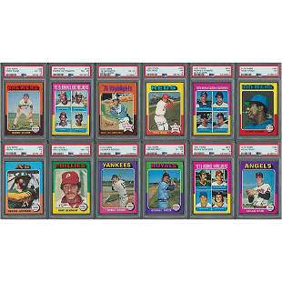 1975 Topps Baseball High-Grade Complete Set (660)
