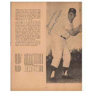 NY Yankees: 1957 Team-Signed Yearbook