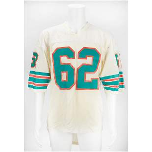 Jim Langer Game-Used Miami Dolphins Road Jersey