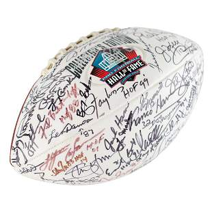 NFL Hall of Famers Signed Football