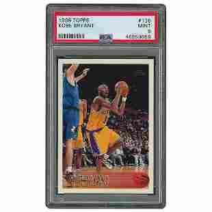 1996 Topps #138 Kobe Bryant RC PSA MINT 9