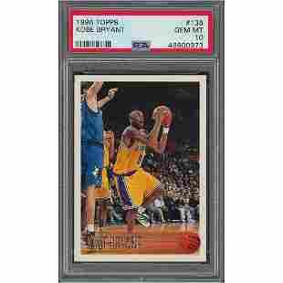 1996 Topps #138 Kobe Bryant RC PSA GEM-MT 10