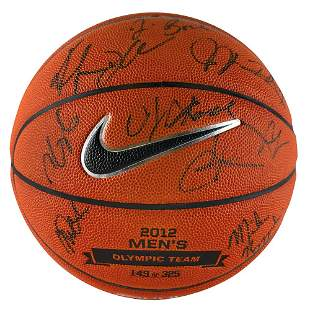 Kobe Bryant and 2012 USA Olympic Team Signed Basketball
