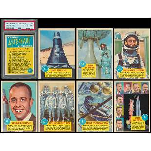 1963 Topps Astronauts 3-D High-Grade Complete Set with