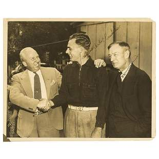 Bill McKechnie and Johnny Vander Meer Signed Photograph