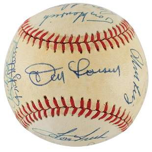 NY Yankees Old-Timers Signed Baseball