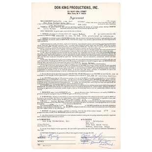 Don King and Ron Lyle Document Signed