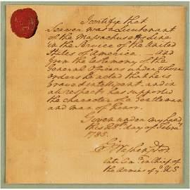 George Washington Autograph Document Signed