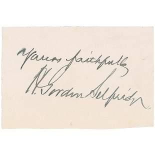 Harry Gordon Selfridge Signature