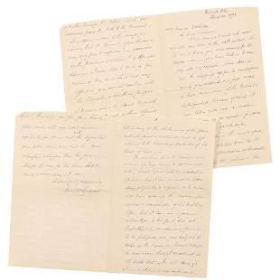 Abner Doubleday: John S. McCalmont Autograph Letter