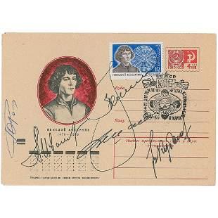Cosmonauts Signed Copernicus Cover