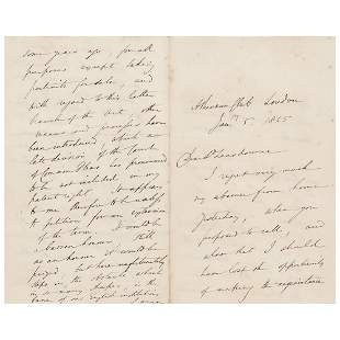 Henry Fox Talbot Autograph Letter Signed