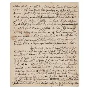 Thomas de Quincey Handwritten Manuscript