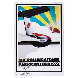 Rolling Stones: Keith Richards Twice-Signed Print