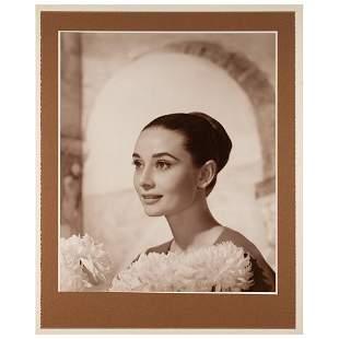 Audrey Hepburn Oversized Portrait by Wallace Seawell
