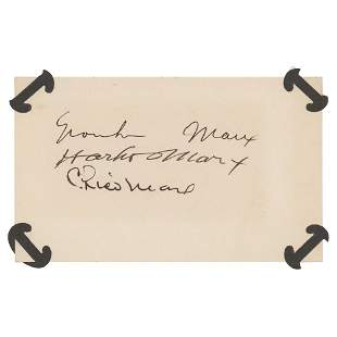 Marx Brothers Signatures