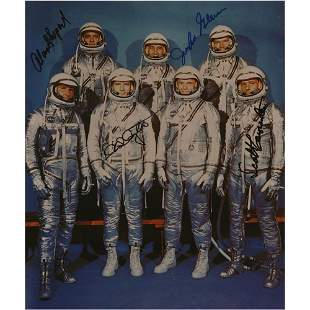 Mercury Astronauts (4) Signed Photograph