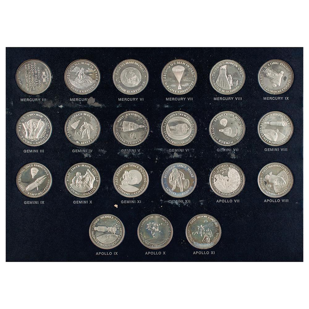 Danbury Mint 'Men in Space Series' Silver Sterling