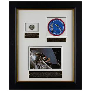 Apollo 9 Flown Robbins Medallion and Patch Display from