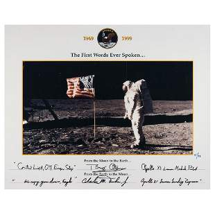 Buzz Aldrin and Charlie Duke Signed 'Limited Edition'