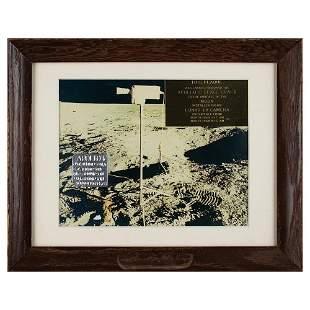 Apollo 12 Lunar Surface Flown Television Camera Plaque