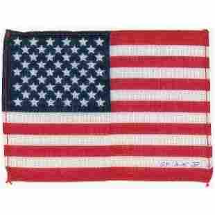 Dave Scott's Apollo 15 Flown Flag
