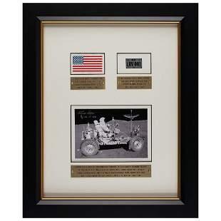 Dave Scott's Apollo 15 Flown/Lunar Landed Flag and