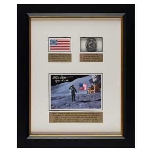 Dave Scott's Apollo 15 Lunar Landed Flag and Lunar
