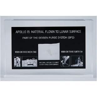 Apollo 15 Flown OPS Beta Cloth Swatch Display