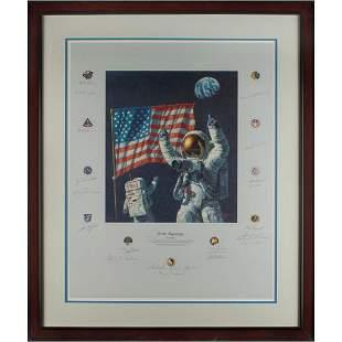 Wally Schirra's Apollo Astronauts (20) Signed