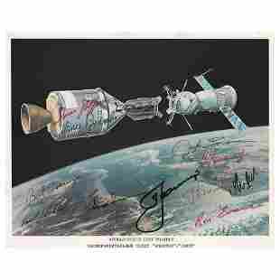 Apollo-Soyuz (14) Crew Member Signed Photograph