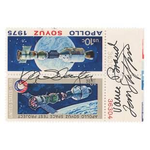 Apollo-Soyuz (3) Signed Stamps