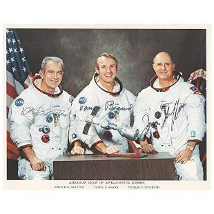 Apollo-Soyuz American Crew Signed Photograph