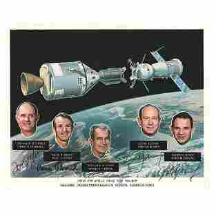 Apollo-Soyuz Signed Photograph
