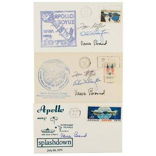 Apollo-Soyuz Group of (3) Signed Covers
