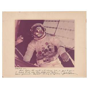 Deke Slayton Signed Photograph