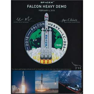 SpaceX Flown Thread Falcon Heavy Demo Patch
