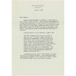 John F. Kennedy 1962 Typed Letter Signed as President