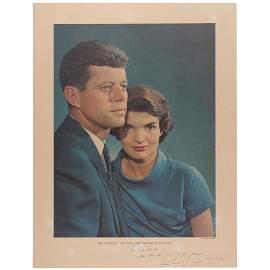 John and Jacqueline Kennedy Color Oversized Karsh