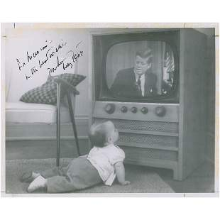John F. Kennedy Signed Photograph and Typed Letter