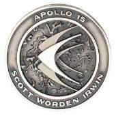 Al Worden's Apollo 15 Unflown Robbins Medallion