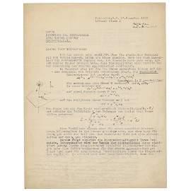 Albert Einstein Typed Letter Signed with Handwritten