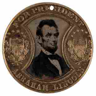 Abraham Lincoln 1864 Presidential Campaign Ferrotype