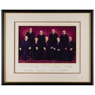 Supreme Court: Burger Court Signed Photograph