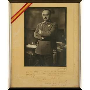 Francisco Franco Signed Photograph