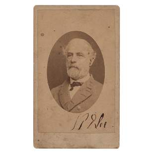 Robert E. Lee Signed Photograph